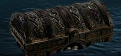 Il forziere che galleggia nelle acque agitate dei Caraibi
