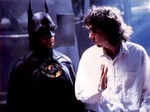 Michael Keaton (Batman) e Tim Burton