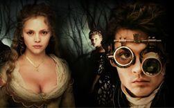 Johnny Depp (Ichabod Crane) e Christina Ricci (Katrina)