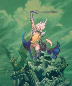 Il principe albino Elric di Melniboné in un celebre disegno di Whelan