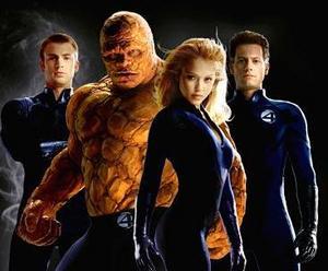 Ioan Gruffudd, Jessica Alba, Chris Evans e Michael Chiklis sono Mr. Fantastic, la Torcia umana, la Cosa e la Donna invisibile