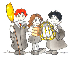 Il famoso trio visto da Chiara Codecà in stile manga