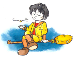 Harry Potter gioca con il boccino