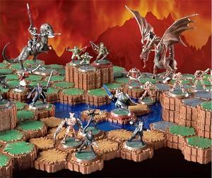 Alcune miniature e il set di gioco