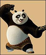 La prima immagine pubblicitaria di Kung Fu Panda
