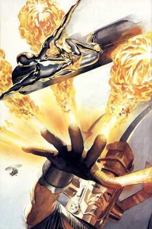"""Silver Surfer si ribella a Galactus nella rievocazione datane da """"Marvels"""""""