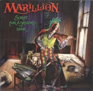 Copertina dell'album  Script For A Jester's Tear dei Marillion, disegnata da Mark Wilkinson