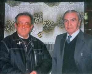 Gianni Ursini con Carlo Rambaldi
