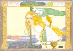 Marina Sussa, Goldberry (acquarello, 50 x 70; proprietà della Società Tolkieniana Italiana)