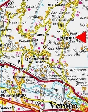 Valpolicella - mappa della località