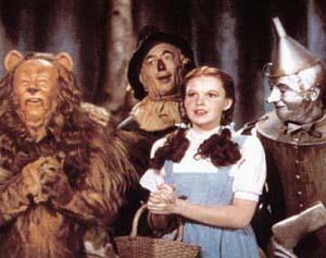 Dorothy e i suoi amici sulla strada di mattoni gialli per Oz
