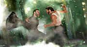 Un intenso scontro tra Wolverine e Sabretooth