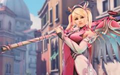 Overwatch lancia la skin Mercy Rosa
