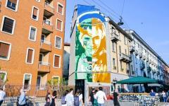 A Milano il murale ispirato a Loki