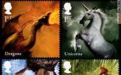 Ecco i fantasy francobolli inglesi