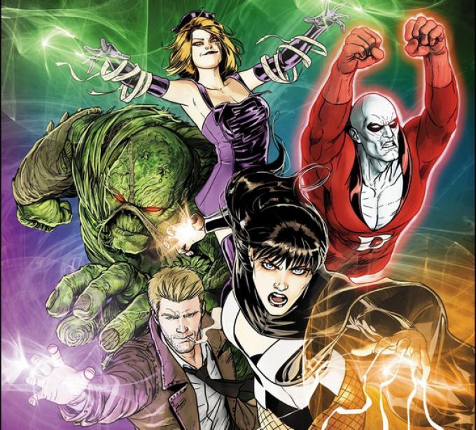 La copertina di Justice League Dark #30 (giugno 2014) illustrata da Mikel Janín