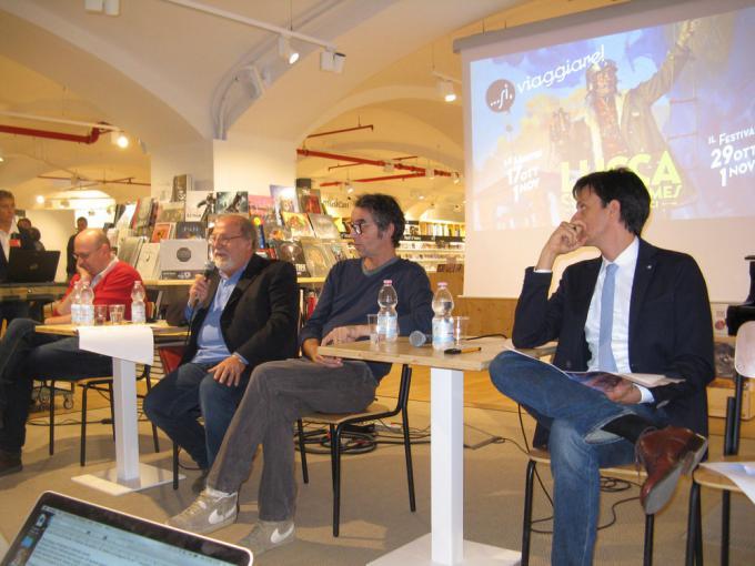 Da sinistra: Giovanni Russo, Renato Genovese, Gipi, Emanuele Vietina.