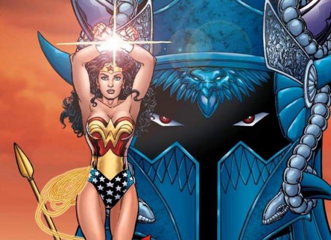 Wonder Woman e Ares in un'illustrazione di George Pérez