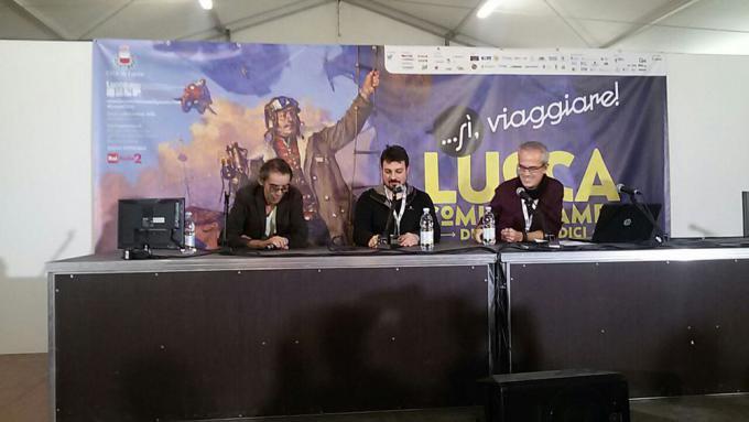 Gipi e Bigio a Lucca Games - Foto di Carmen Brucato