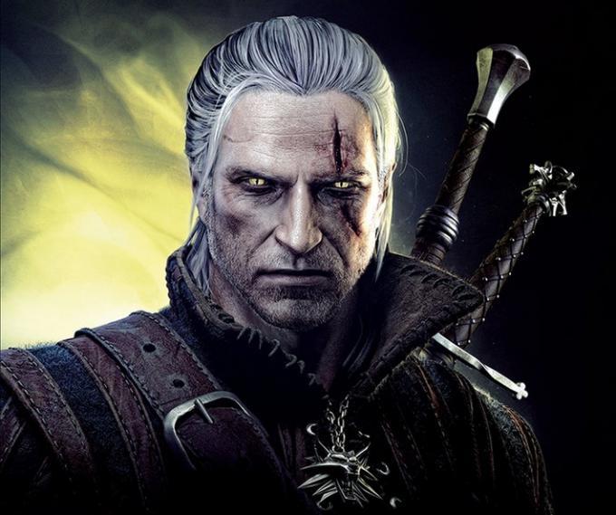 Geralt sulla copertina della versione per pc di The Witcher 2: Assassins of Kings (2011)
