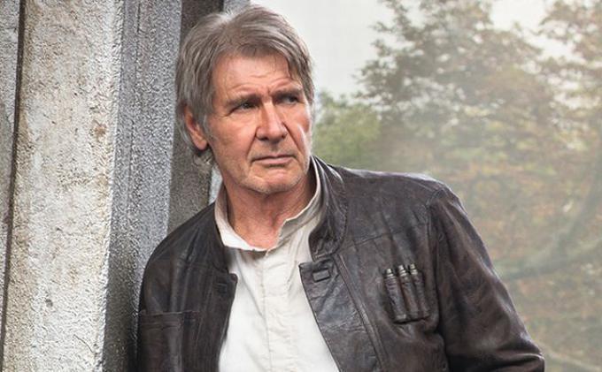 Harrison Ford è Han Solo in Star Wars: il risveglio della Forza