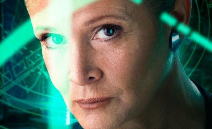 Carrie Fisher in Star Wars: il risveglio della Forza