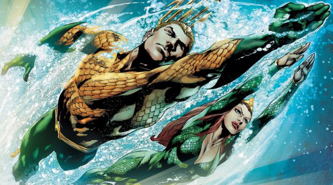 Aquaman e Mera, illustrati da Ivan Reis (da Aquaman #3, gennaio 2012)