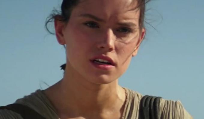 Daisy Ridley in Star Wars: il risveglio della Forza