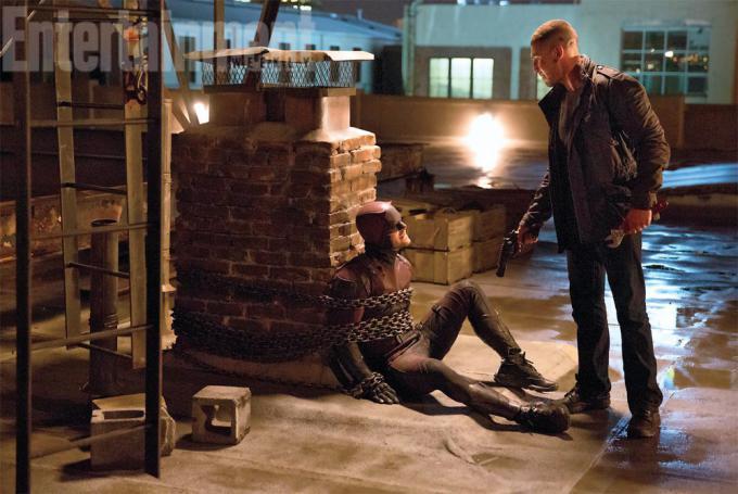 Daredevil e Il Punitore (Photo credits: Patrick Harbron/Netflix)