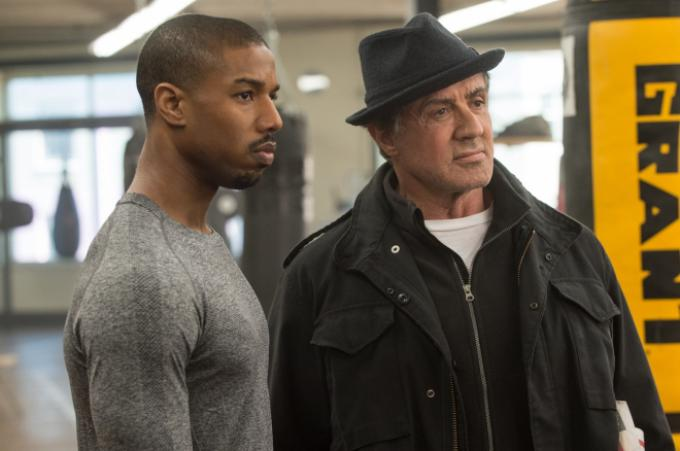 Michael B. Jordan e Sylvester Stallone in Creed