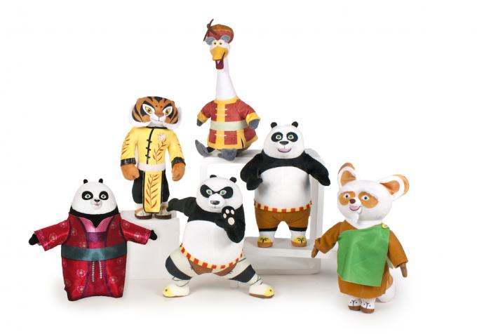 I peluche di Kung Fu Panda 3