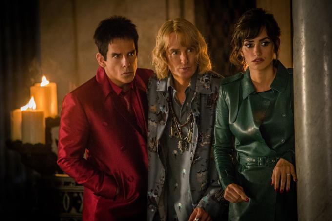 Ben Stiller, Owen Wilson e Penelope Cruz in Zoolander 2