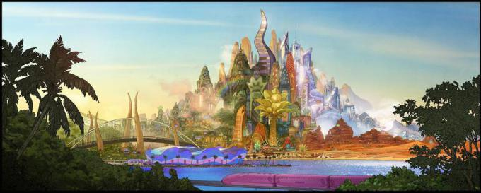 Un concept art di Zootropolis