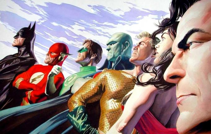 La Justice League illustrata da Alex Ross