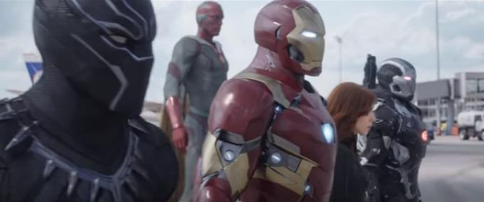 Il team Iron Man senza Spider-Man in Captain America: Civil War