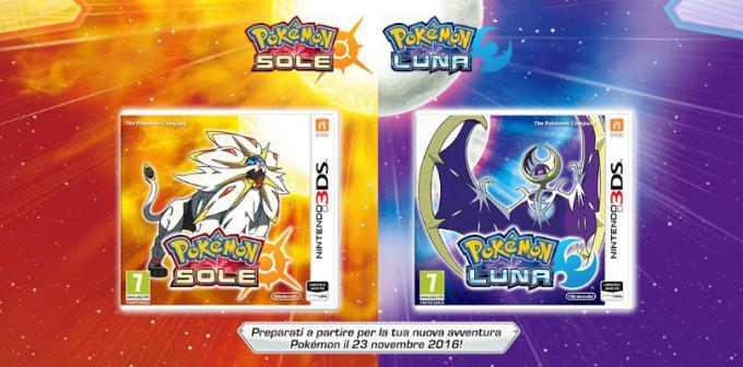 Pokémon Sole e Luna cover e data di uscita