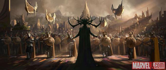 Concept art per Thor: Ragnarok