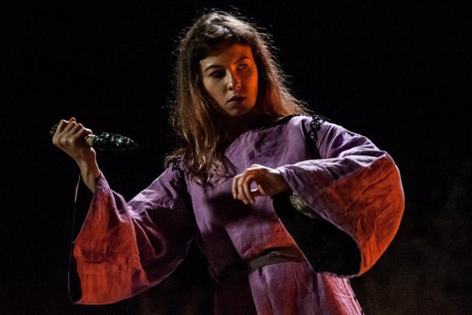 Chiara Aru sul set del trailer di Iskìda della terra del Nurak - Foto di Alec Cani.