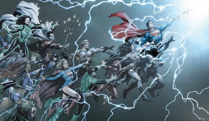 La copertina di DC Universe: Rebirth #1 (maggio 2016) illustrata da Gary Frank