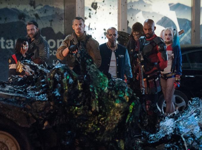 La Suicide Squad in una foto pubblicata su Total Film
