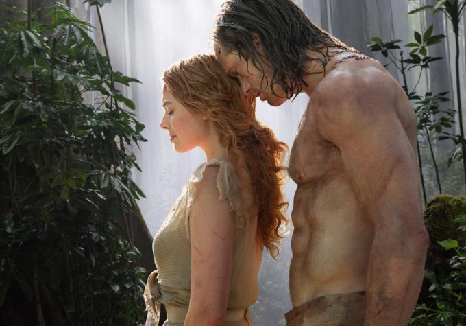 Margot Robbie eAlexander Skarsgård in The Legend of Tarzan