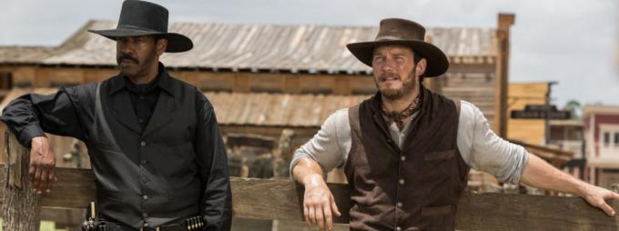 Denzel Washington e Chris Pratt in I Magnifici 7