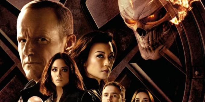 Dettaglio del poster della quarta stagione di Agents of S.H.I.E.L.D.