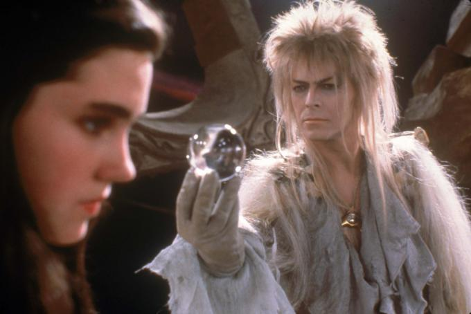 Jennifer Connelly e David Bowie in Labyrinth