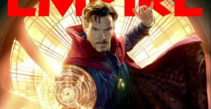 Dettaglio della copertina di Empire con Doctor Strange