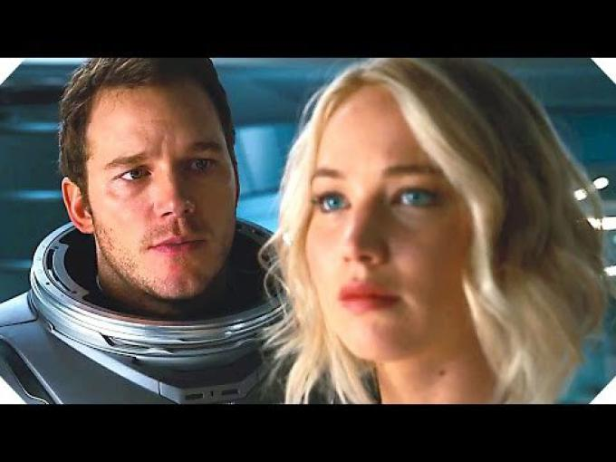 Chris Pratt e Jennifer Lawrence in Passengers