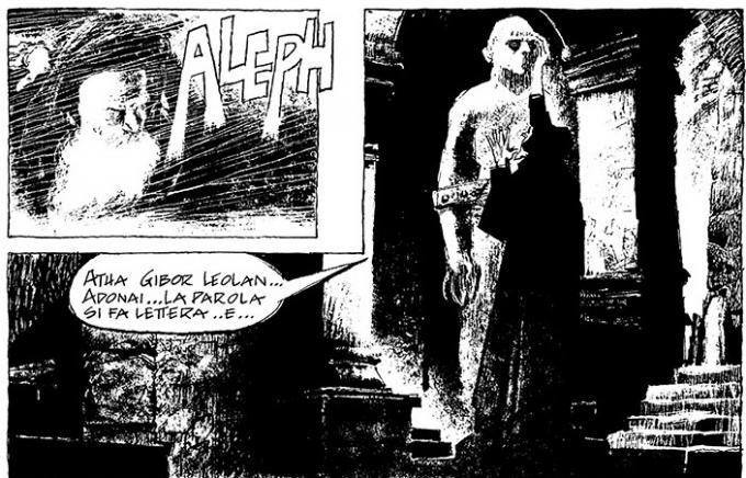 Il Golem - Disegno di Dino Battaglia