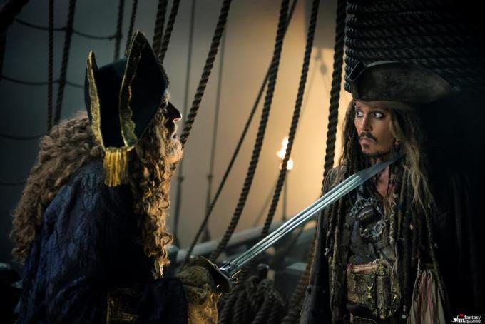 Geoffrey Rush e Johnny Depp