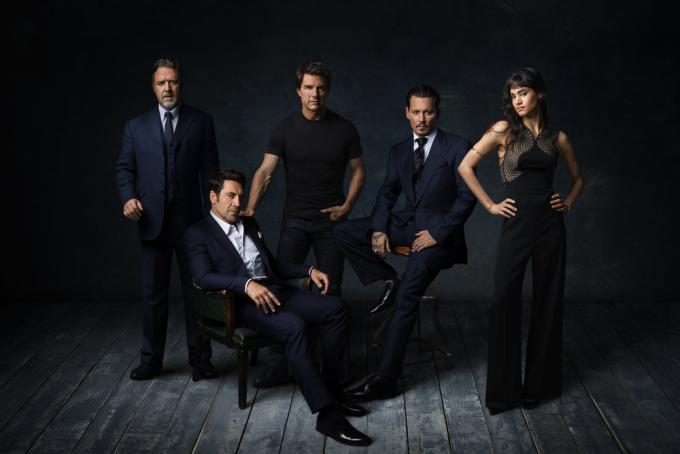 Russel Crowe, Javier Bardem, Tom Cruise, Johnny Depp, Sofie Boutella
