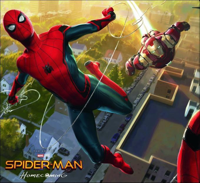 La copertina di The Art of Spider-Man: Homecoming